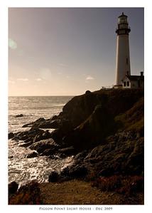 Pigeon Point Light House, Halfmoon Bay, CA - December 2009